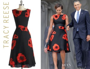 Michelle-Obama's-Tracy-Reese-Sophisticated-Ambiance-Floral-Dress