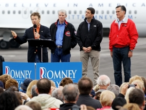 Rand suporting Romney