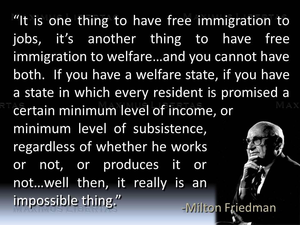 Bildresultat för open borders is not the same as free welfare